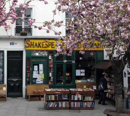 Shakespeare and Co cherry blossom