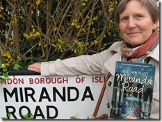Miranda Road sign and Heather Reyes